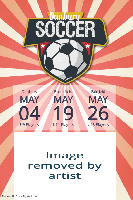 Sports Soccer Poster schedule team summer camp poster