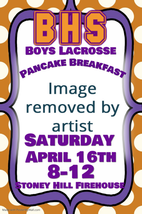 Sports Team Pancake Breakfast Fundraiser Event Flyer Poster