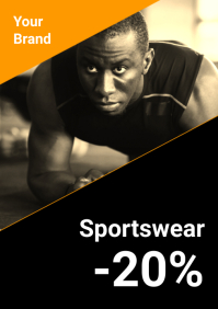 Sports Wear Retail Store Shop Sale Discount A4 template