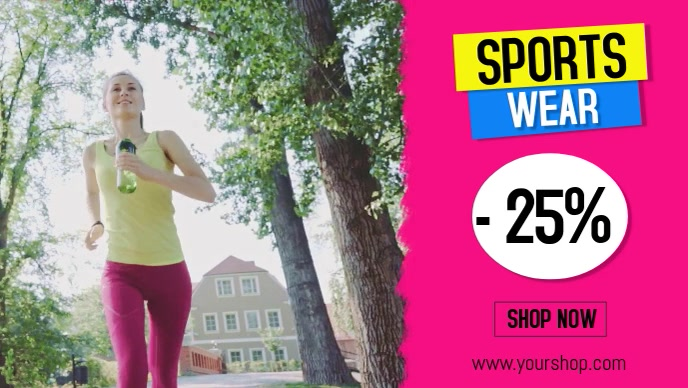 Sports Wear Sale Discount Fitness Advert Promo Training