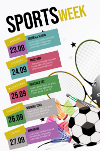 Sports Week Flyer Schedule Template