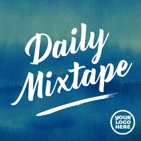 Spotify album art daily mixtape music cover template