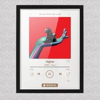 Spotify Music Glass Art Template 专辑封面