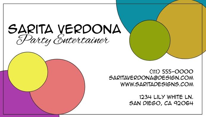 Spots Creative Design Business Card Visitkort template