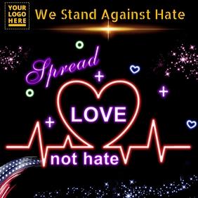 Spread love not hate design