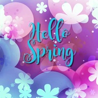 spring, event,sale Instagram Post template