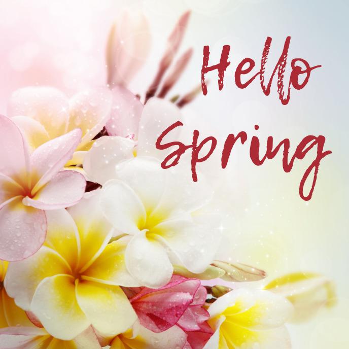 spring, event,sale Pochette d'album template