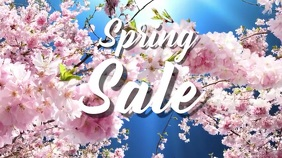 spring, event,sale Digital Display (16:9) template