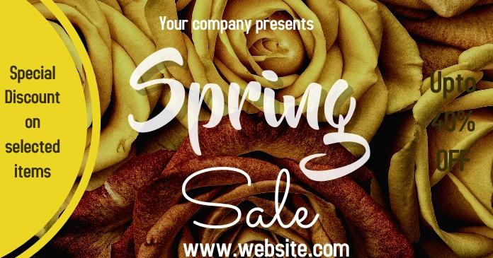 spring, event,sale Gambar Bersama Facebook template
