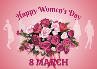 women's day, event, greeting card, celebration Postkarte template