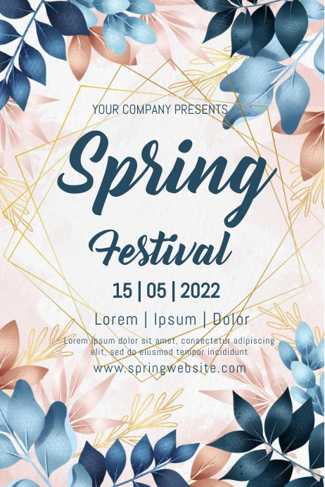 Anniversary,spring, event,spring card Poster template