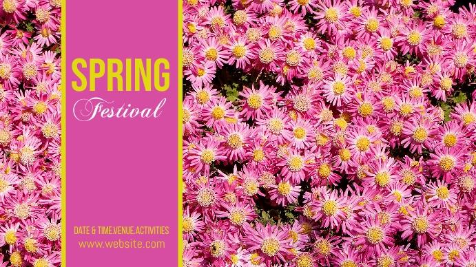 spring, event,spring card Digitalt display (16:9) template