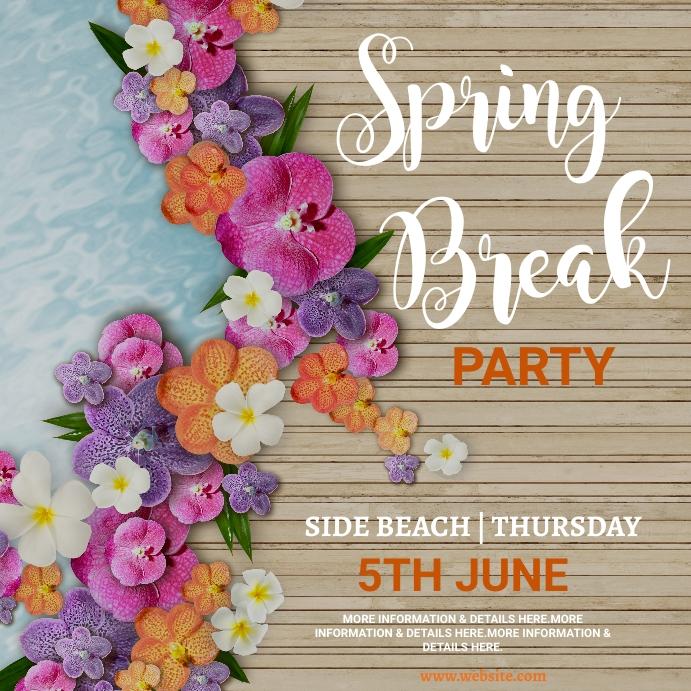 spring, event,spring card Instagram Post template