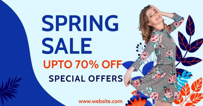 spring, event,spring card retail delt Facebook-billede template