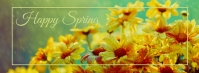 spring, event,spring card Facebook-coverfoto template