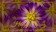 spring, event,spring card Vídeo de portada de Facebook (16:9) template