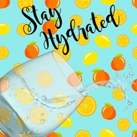 Spring, Greetings, Stay Hydrated โพสต์บน Instagram template