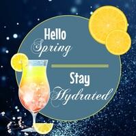 Spring, Greetings, Stay Hydrated Publicación de Instagram template