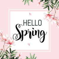 spring, hello spring, spring sale Square (1:1) template