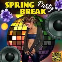 Spring, Party โพสต์บน Instagram template