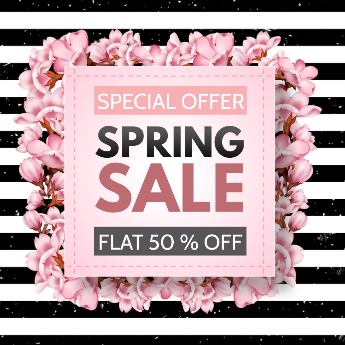 spring, retail ,hello spring Square (1:1) template