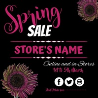 Spring, Sale Message Instagram template
