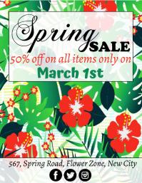 Spring, Sale Flyer (format US Letter) template