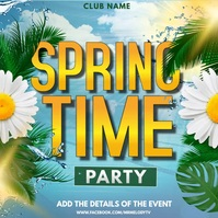 Spring, spring camp, summer, beach Instagram-Beitrag template