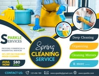 spring, spring cleaning service Flyer (Letter pang-US) template