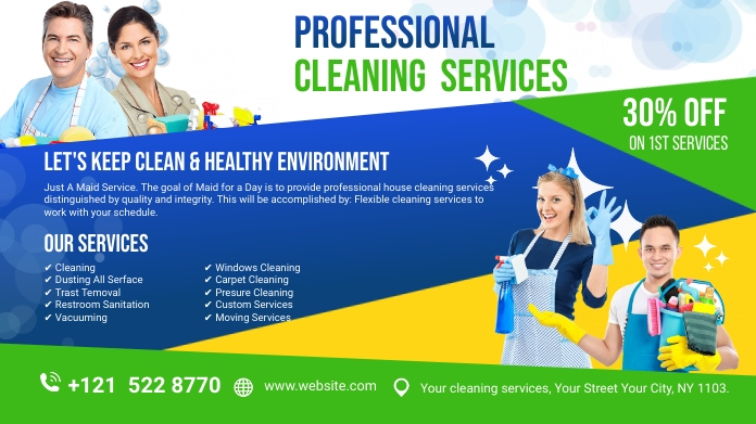 spring, spring cleaning service Iphosti le-Twitter template
