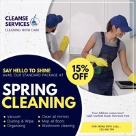 spring, spring cleaning service Instagram Post template