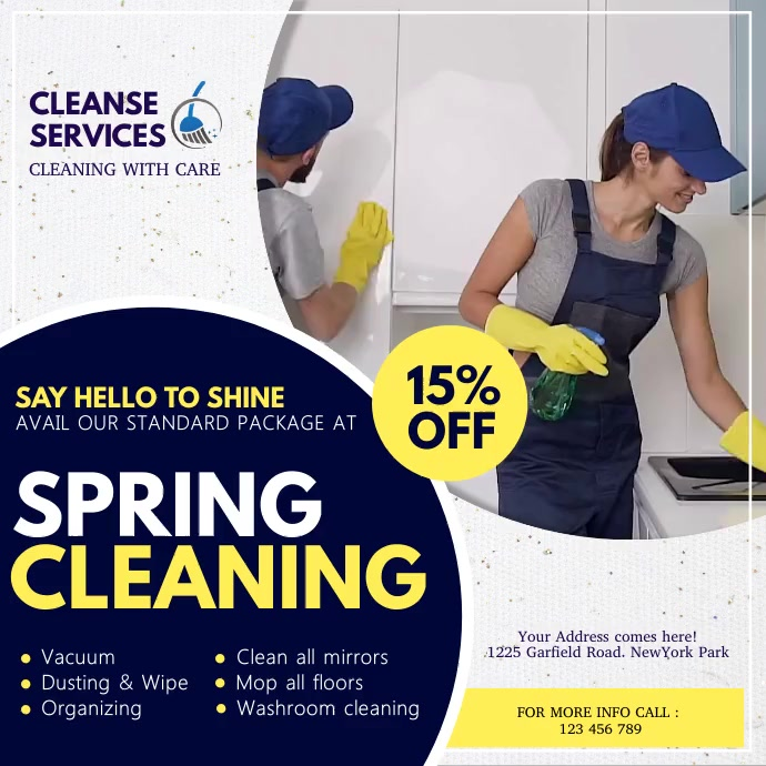 spring, spring cleaning service Wpis na Instagrama template