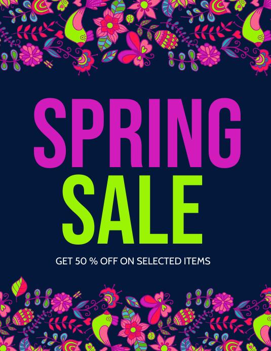 Spring, Spring Retail Flyer, Spring Sale, Spring Event Flyer