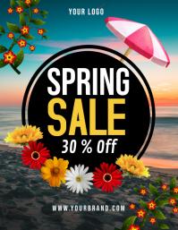 spring, spring sale Рекламная листовка (US Letter) template