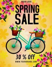 spring, spring sale video template Volante (Carta US)
