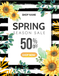 Spring,Event flyers Pamflet (VSA Brief) template