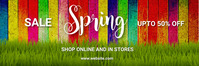 Spring,retail,event,party Banner 2 × 6 template