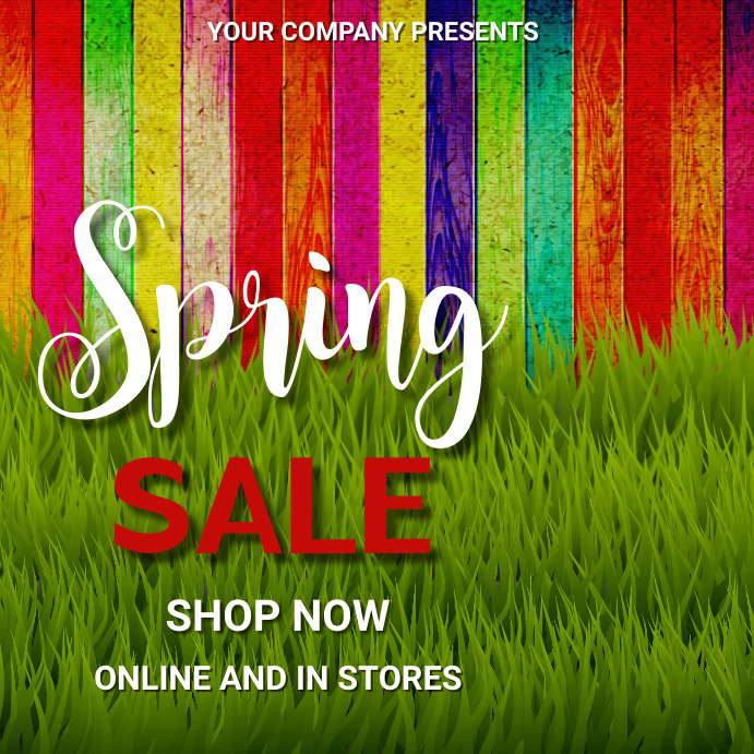 Spring,retail,event,party Instagram Post template
