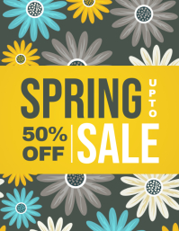 Spring,Spring Retail Flyer, Spring Sale, Spring Event Flyer