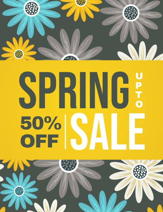 Spring,Spring Retail Flyer, Spring Sale, Spring Event Flyer