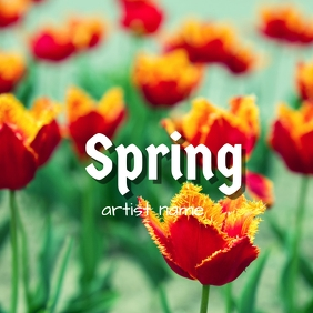 Spring album art template