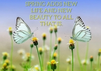 SPRING AND BEAUTY QUOTE TEMPLATE A4