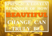 SPRING AND LOVELY QUOTE TEMPLATE A4