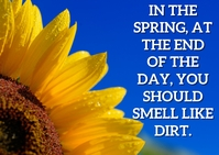 SPRING AND SMELL QUOTE TEMPLATE A6