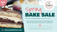 Spring Bake Sale Facebook Cover Video template