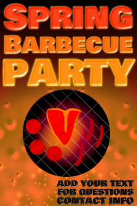 spring barbecue party - bbq grill image