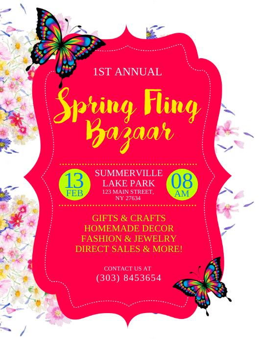 spring bazaar flyer template postermywall
