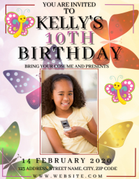 SPRING BIRTHDAY PARTY Event Flyer Template