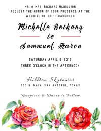 Spring Bouquet Wedding Invitation