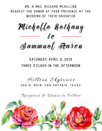 Spring Bouquet Wedding Invitation